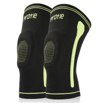 Protle Knee Compression Brace Sleeve Support with Silicone Gel Pads for Gym Workout, Jogging, Crossfit, Joint Pain Relief, Knee Injury, Arthritis, Tendonitis, MCL Tear, Sports