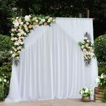 White Tulle Backdrop Curtains for Parties Weddings Baby Shower Birthday Bridal Shower Engagement Drape Backdrop 5ft x7ft,Pack of 2