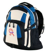 Personalized Tennis Book Bag with Custom Text   Heavy Duty Urban Backpack with Customizable Embroidered Monogram Design (Royal/Black/Stone)