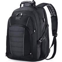 Laptop Backpack, Extra Large 17 Inch Business Travel Backpack with USB Charging Port Earphone Hole, Durable Water Resistant Work Computer Backpack College/High School Bags for Men/Women/Boys