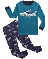 Dolphin&Fish Boys and Girls Pjs Sets Cotton Little boy Clothes Children Sleepwear