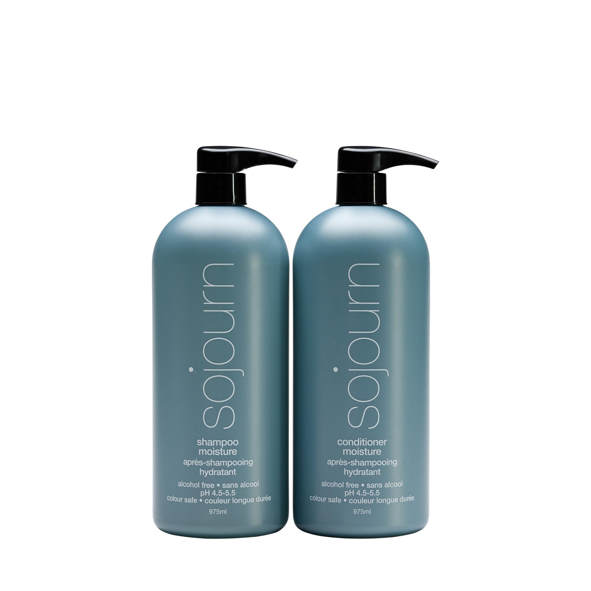 Sojourn Moisture Organic Shampoo and Conditioner 33 oz 975ml