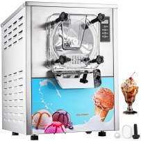VEVOR 1400W Commercial Ice Cream Machine 5.3Gallon per Hour Hard Serve LED Display Auto Shut-Off Timer Perfect for Restaurants Snack Bar Supermarkets, Sliver