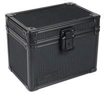 Vaultz Locking 4 x 6 Inch Index Card Box, Tactical Black (VZ00316)