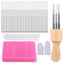 30Pcs Felting Needle Kit, Needle Felting Kit, Needle Felting Supplies with Felting Needle, Felting Foam Pad, Felting Starter Kit for DIY