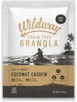 Wildway Vegan Granola   Coconut Cashew   Certified Gluten Free Granola Snack Packs, Grain Free, Paleo, Non GMO, No Artificial Sweetener   12 Pack