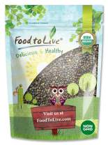 Organic French Green Lentils by Food to Live (Whole Dry Beans, Non-GMO, Kosher, Raw, Sproutable, Bulk) — 1 Pound