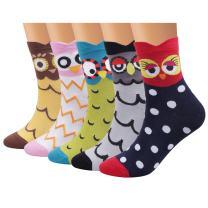 Ofeily Women Socks Cotton Casual Funny Cute Animal Patterned Socks Art Funky Colorful Cartoon Gift Socks