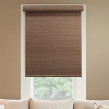 """Chicology Deluxe Free-Stop Cordless Roller Shades, No Tug Privacy Window Blind, Felton Truffle (Privacy & Natural Woven), 24""""W X 72""""H"""