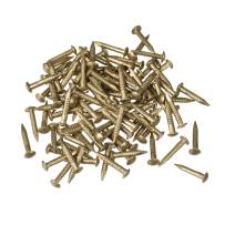 uxcell Small Tiny Brass Nails 1.2x8mm for DIY Decorative Pictures Wooden Boxes Household Accessories 80pcs