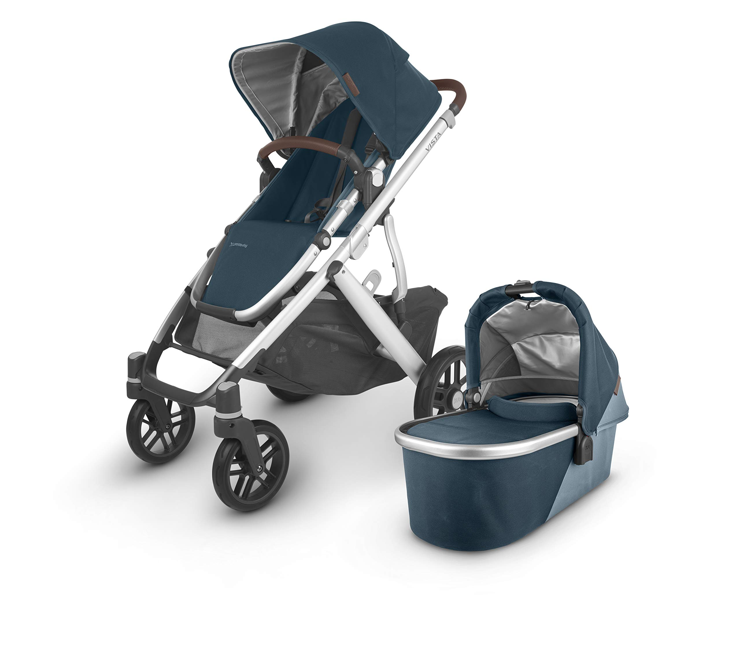 VISTA V2 Stroller - FINN (deep sea/silver/chestnut leather)