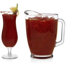Libbey Modern Bar Bloody Mary Entertaining Set with 4 Hurricane Glasses and Pitcher
