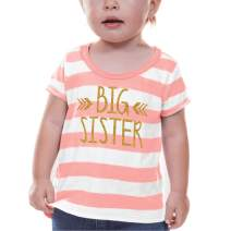 Bump and Beyond Designs Big Sister Shirt Baby Girl Outfit Big Sister Gift