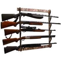 Rush Creek Creations Indoor 5 Rifle/Shotgun Wall Storage Display Rack