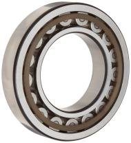SKF NU 205 ECP Cylindrical Roller Bearing, Removable Inner Ring, Straight, High Capacity, Polyamide/Nylon Cage, Metric, 25mm Bore, 52mm OD, 15mm Width, 14000rpm Maximum Rotational Speed, 6070lbf Static Load Capacity, 6430lbf Dynamic Load Capacity