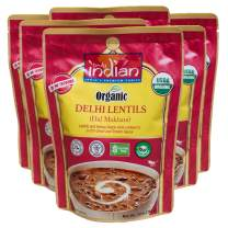 Truly Indian Organic Delhi Lentil, Dal Makhani, Ready-To-Eat, Bold, Flavorful! Halal, Kosher, Gluten-Free, Vegan and Vegetarian, 6 pack