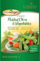 Mrs. Wages Pickled Okra and Vegetables Quick Process Mix (VALUE PACK of 12)