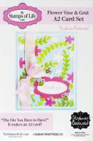 Flower Vine and Grid A2 Card Base Die Set DIY Craft Dies for Card Making and Scrapbooking by The Stamps of Life