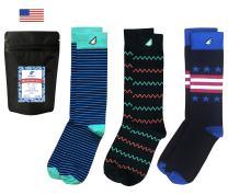 Boldfoot Socks - Premium Quality Colorful Women's Dress Socks - American Made - 3-pack, Black + Color