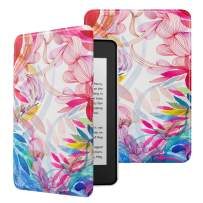 MoKo Case Fits Kindle Paperwhite (10th Generation, 2018 Releases), Premium Ultra Lightweight Shell Cover with Auto Wake/Sleep for Amazon Kindle Paperwhite 2018 E-Reader - Colorful Petals
