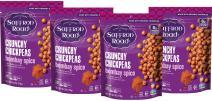 Saffron Road Organic Crunchy Chickpeas, Non-GMO, Gluten-Free, Halal, Bombay Spice, 4 Count
