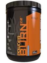 Rivalus Powder Burn 2.0 Pre Workout Supplement, Blue Raspberry, 1.1 Pound