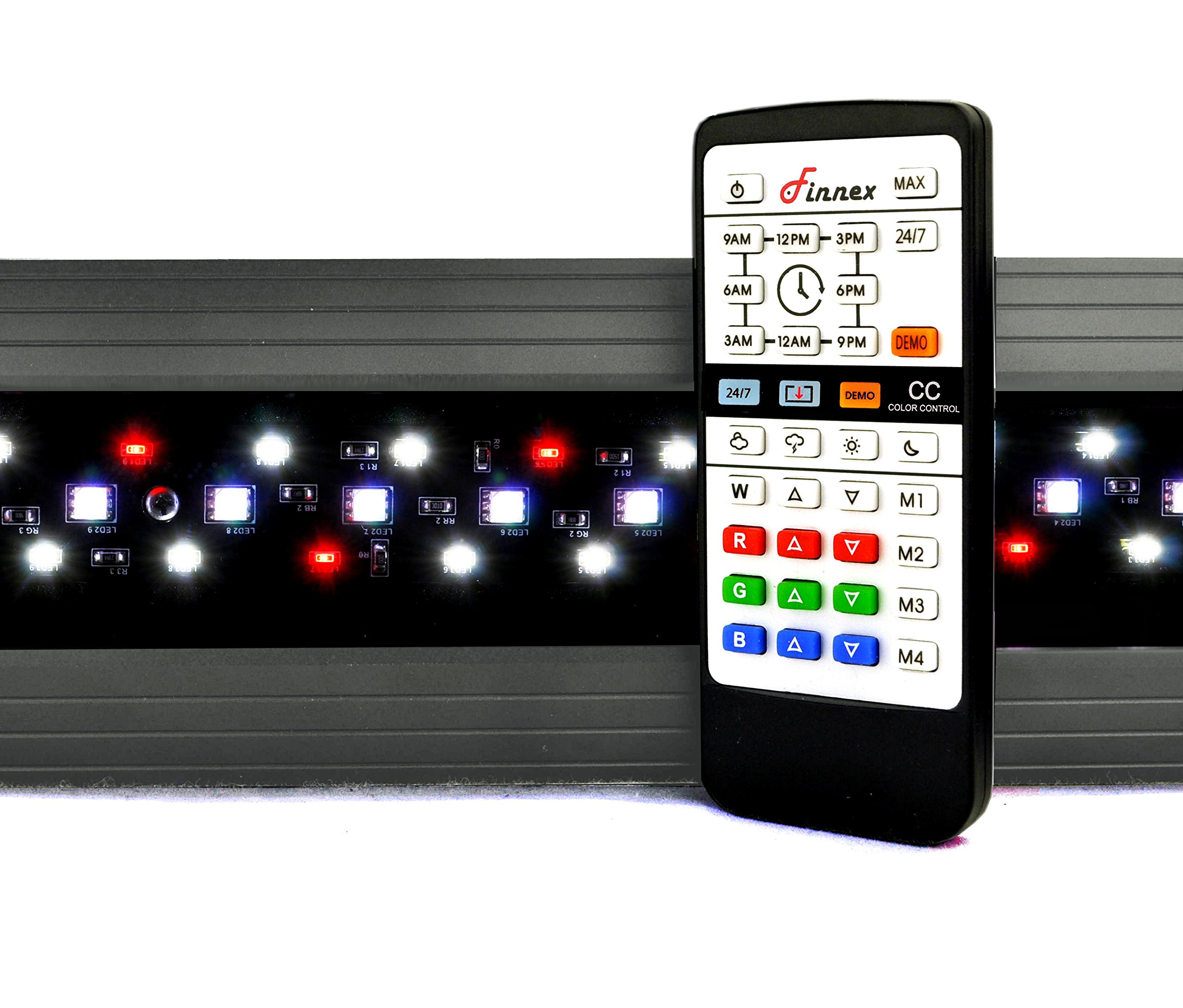 Finnex Planted+ 24/7 Fully Automated Aquarium LED Fixture, 660nm Red LEDs, CC or SE Series