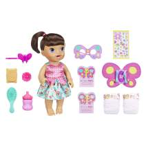 Baby Alive Butterfly Party: Brown Hair Doll with 12 Accessories That Drinks & Wets, Great Doll For 3-Year-Old Girls & Boys & Up (Amazon Exclusive)
