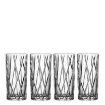 Orrefors City 11.6 Ounce Highball Glass, Set of 4
