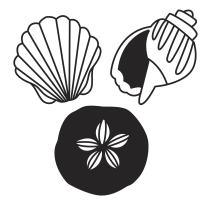 Darice 30023084 Die Cut Emboss Stencil Seashells