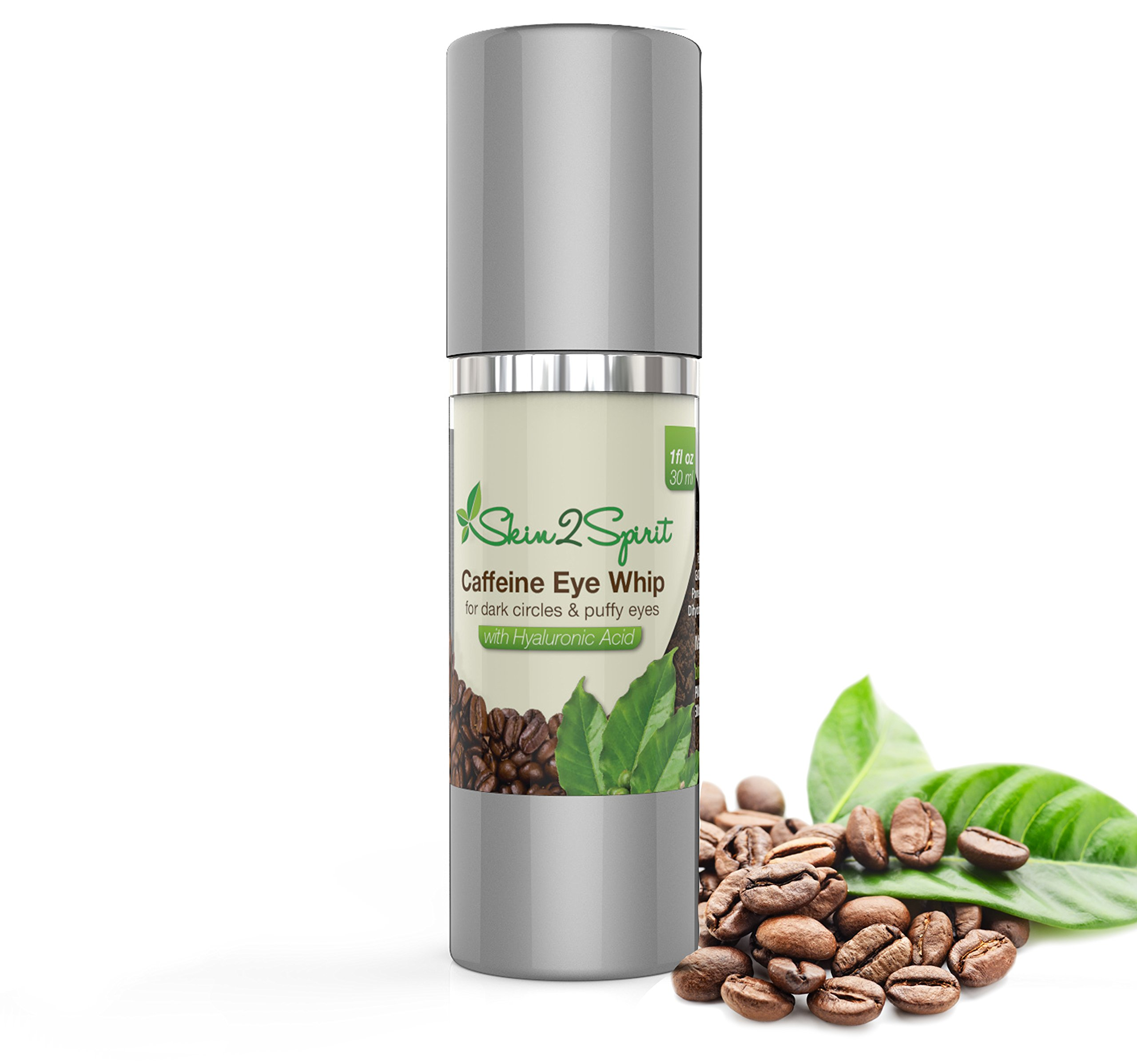 Age Defying Caffeine Eye Cream | 1 OZ | Puffy Eyes, Dark Circles, Fine Lines, Wrinkles | All Natural | Made w/Organic Ingredients | Contains Hyaluronic Acid | Cruelty Free | Made in USA!