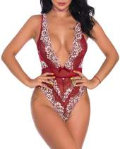 Bivan Women Sexy Lace Bodysuit One Piece Lingerie Teddy Underwear
