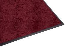 Guardian Platinum Series Indoor Wiper Floor Mat, Rubber with Nylon Carpet, 4'x8', Burgundy