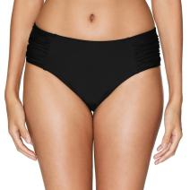 Vegatos Women Black Bikini Bottoms Full Coverage Swim Briefs Bathing Suit Bottom