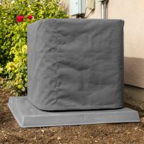 """SugarHouse Outdoor Air Conditioner Cover - Ultimate Sunbrella Canvas - Made in The USA - 20-Year Warranty - 36"""" x 36"""" x 40"""" - Charcoal Gray"""
