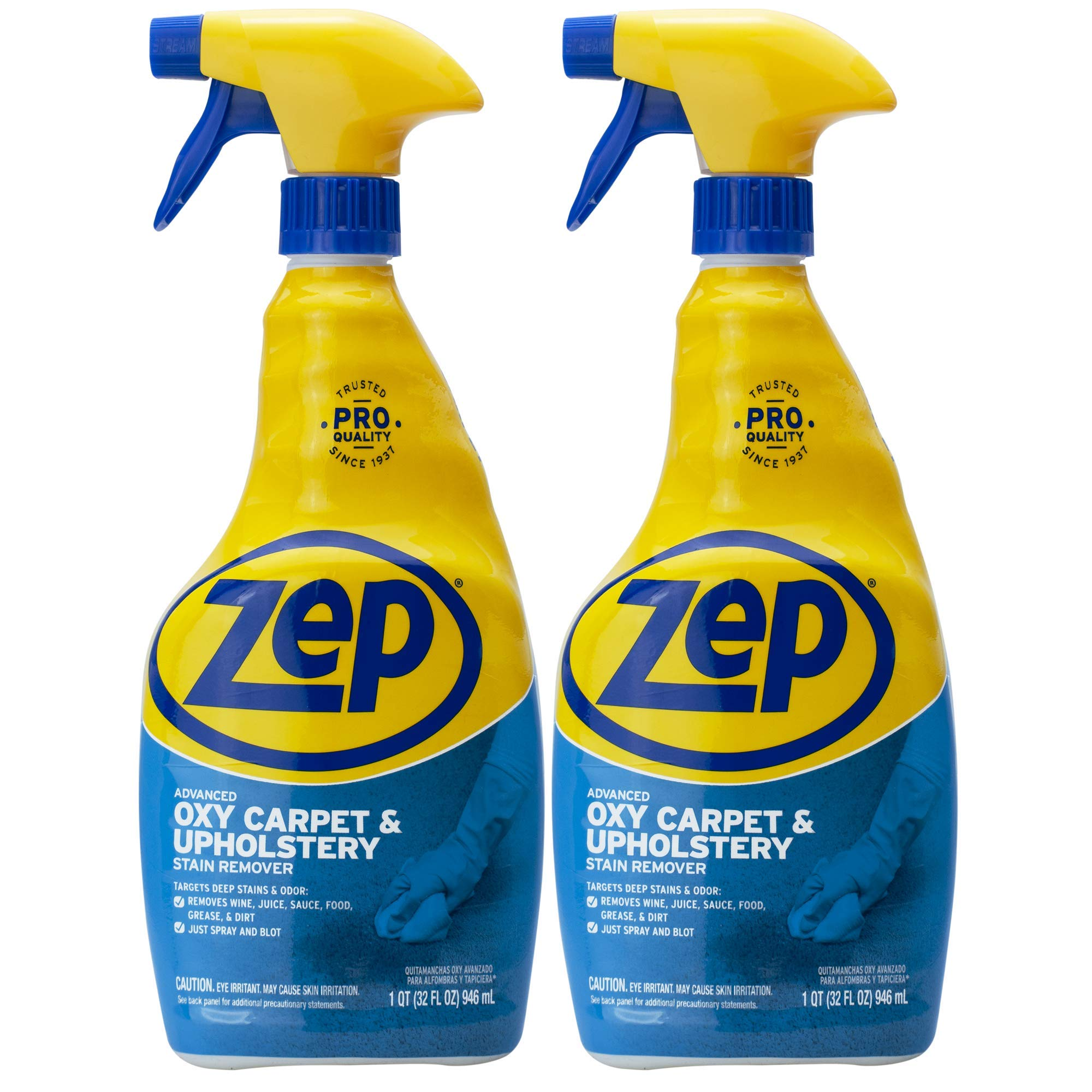 Zep Advanced Oxy Carpet Cleaner 32 ounce ZUOXSR32 (Pack of 2) Great for Upholstery, Carpet, and Clothes
