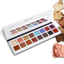 DE'LANCI Pro Eyeshadow Palette Makeup, Shimmer + Matte 16 Colors - Highly Pigmented – Multi-color Collection Eye Shadows Set