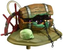 Penn-Plax Aerating Action Ornament, Barrel of Jewels - Opens and Closes - Small
