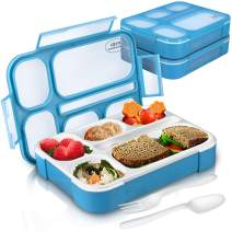 Pixi Creation 6-Compartment Bento Lunch Box for Kids, Pack of 2 Leak-Proof BPA Free Containers with Lids
