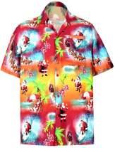 HAPPY BAY Men's Relaxed Beach Button Down Short Sleeve Hawaiian Shirt 3D Printed