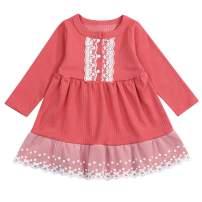 Baby Kids Girls Tutu Dresses Toddler Tulle Dress Long Sleeve Tutu Dress Princess Party Dresses