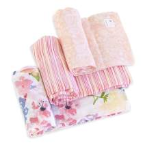 Burt's Bees Baby - Swaddles, Muslin Cotton Baby Blankets, 3-Pack, Multipurpose Lightweight & Breathable 100% Organic Cotton (Spring Bouquet)