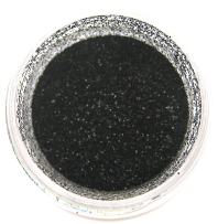 True Black Glitter Dust 5 gram container. Black Glitter Dust for Cake Decoration. Polvo Brillantina Negro. Sunflower Sugar Art
