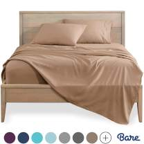 Bare Home Queen Sheet Set - 1800 Ultra-Soft Microfiber Bed Sheets - Double Brushed Breathable Bedding - Hypoallergenic – Wrinkle Resistant - Deep Pocket (Queen, Camel)