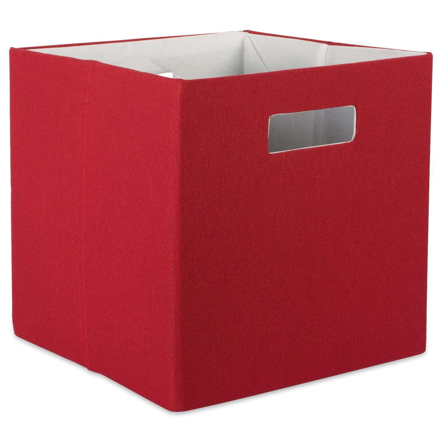 """DII Hard Sided Collapsible Fabric Storage Container for Nursery, Offices, & Home Organization, (11x11x11"""") - Solid Rust"""
