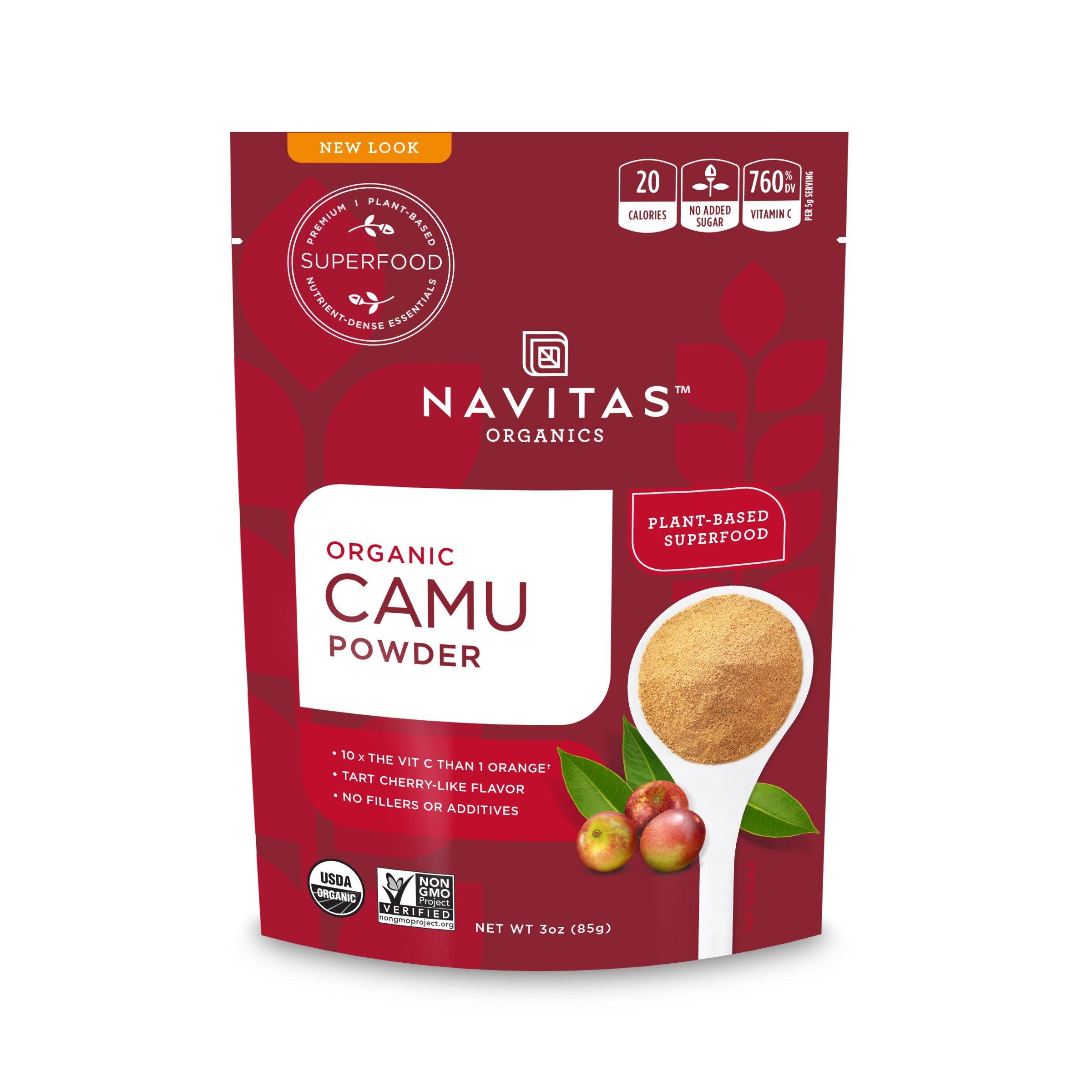 Navitas Organics Camu Camu Powder, 3 oz. Bag — Organic, Non-GMO, Gluten-Free