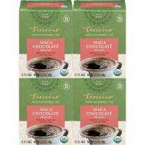 Teeccino Herbal Tea – Organic Maca Chocolaté – Adaptogenic Peruvian Maca   Cacao   Chicory   Prebiotic   Caffeine Free   Acid Free   Coffee Alternative, 10 Tea Bags (Pack of 4)