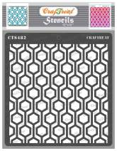 CrafTreat Geometric Wall Stencils for Painting on Wood, Wall, Tile, Canvas, Paper, Fabric and Floor - Connected Hexagon Stencil - 12x12 Inches - Reusable DIY Art and Craft Stencils