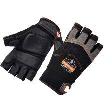 Ergodyne ProFlex 900 Impact Protection Work Gloves, Padded Palm, Half-Finger, Large