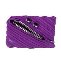 ZIPIT Grillz Big Pencil Case/Cosmetic Makeup Bag, Purple